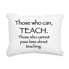 teaching2 Rectangular Canvas Pillow