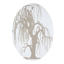 weepingwillowtree3 Oval Ornament