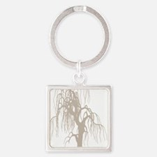 weepingwillowtree3 Square Keychain