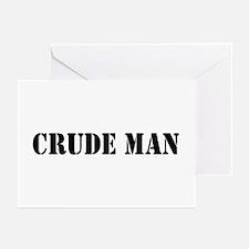 Crude Man Greeting Cards (Pk of 10)