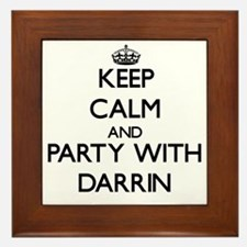 Keep Calm and Party with Darrin Framed Tile