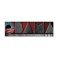 Obama-retro-2012 Car Magnet 10 x 3