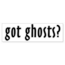 Got Ghosts Bumper Bumper Sticker