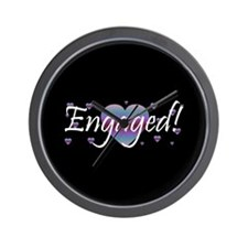 Engaged! - Purple Haze Wall Clock