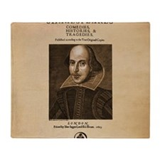 First_Folio-Square-Large Throw Blanket