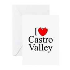 """I Love Castro Valley"" Greeting Cards (Package of"