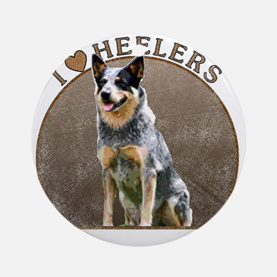 blueheelerwh Round Ornament