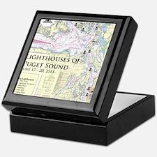 Puget Sound map 5-19-11 Keepsake Box