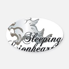 FF8_Sleeping_Lionheart_Griever Oval Car Magnet