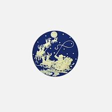 Christmas Santa Claus Night Sky 100 Mini Buttons