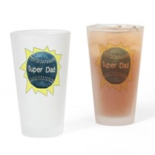 Baseball Super Dad Drinking Glass