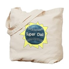 Baseball Super Dad Tote Bag