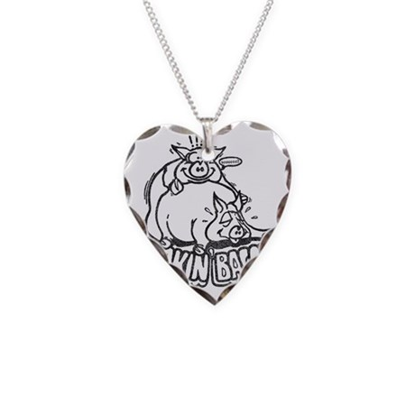 makinbaconwh Necklace Heart Charm
