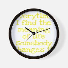 meaningoflife3 Wall Clock