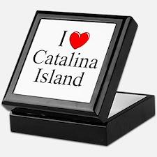 """""""I Love Catalina Island"""" Keepsake Box"""