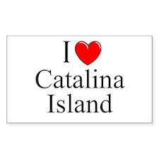 """I Love Catalina Island"" Rectangle Decal"