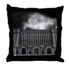 detroitTrainStation Throw Pillow