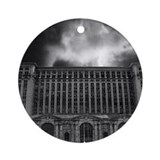 Detroit train station Round Ornaments