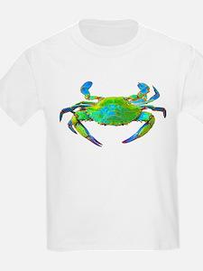 """Neon"" Chesapeake Bay Blue Cr Kids T-Shirt"