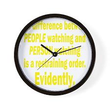 people-watching3 Wall Clock