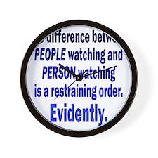 people-watching1 Wall Clock