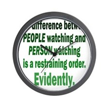 people-watching2 Wall Clock
