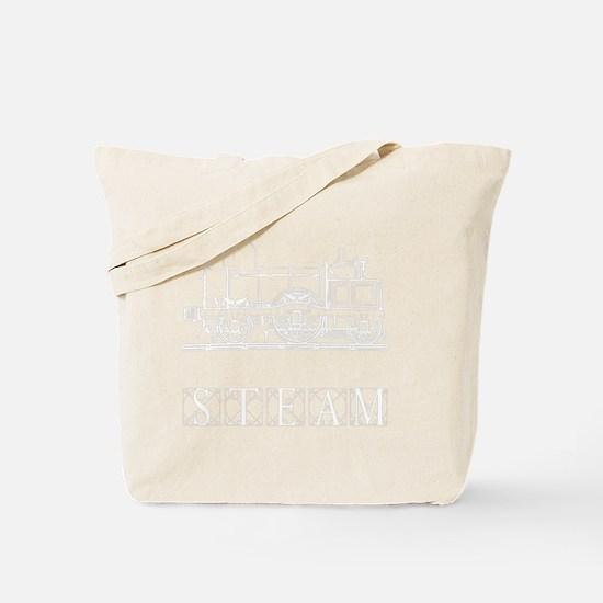 Steam Train White Tote Bag