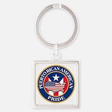puerto rican american pride Square Keychain