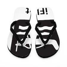 iFloat Black Flip Flops