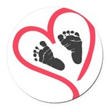 Baby feet Round Car Magnets