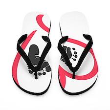 baby feet heart Flip Flops