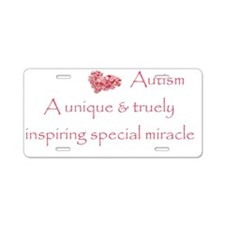Autism Miracle Aluminum License Plate