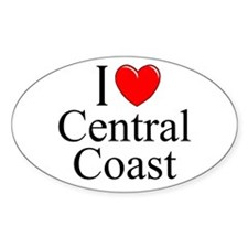 """I Love Central Coast"" Oval Decal"