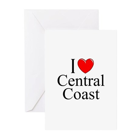 """I Love Central Coast"" Greeting Cards (Package of"
