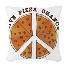pizzachance2wh Woven Throw Pillow