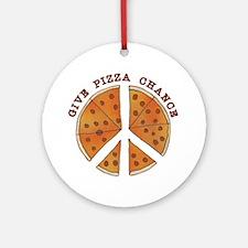 pizzachance2wh Round Ornament