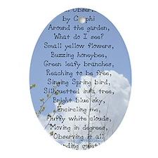 1_Garden_Poem_card Oval Ornament