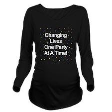Changing Lives Dark Long Sleeve Maternity T-Shirt
