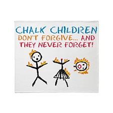 cougar-town-chalk-children_bl Throw Blanket
