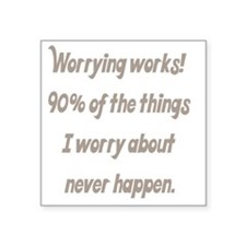 "worrying works Square Sticker 3"" x 3"""