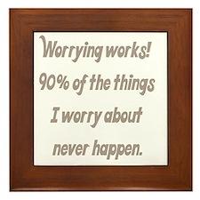 worrying works Framed Tile