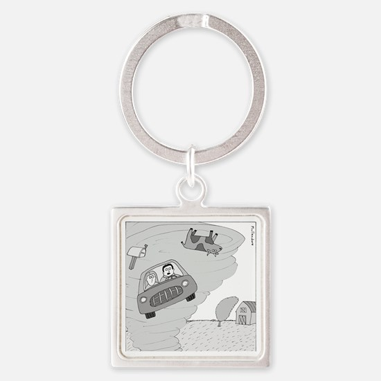In Kansas Now - no text Square Keychain