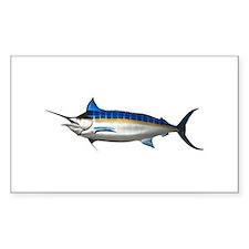 Blue Marlin Rectangle Decal