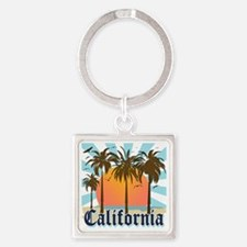 California Light Square Keychain