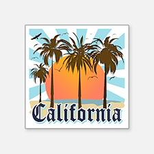 """California Light Square Sticker 3"""" x 3"""""""