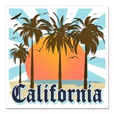 "California Light Square Car Magnet 3"" x 3"""