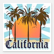 "California Light Square Car Magnet 3"" x 3"""