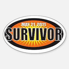 survivor21 Sticker (Oval)