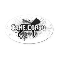 crest3 Oval Car Magnet