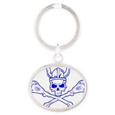 CurtisLaCrosse - Skully without text Oval Keychain